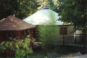 yurt with bathhouse